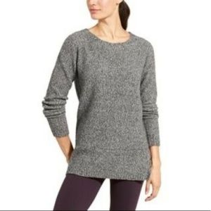 Athleta Marled Gray Mill Valley Yak Hair Sweater
